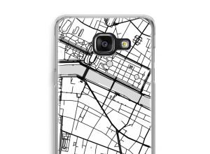 Zet een stadskaart op je  Galaxy A5 (2016) hoesje