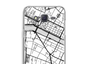 Zet een stadskaart op je  Galaxy J5 (2015) hoesje