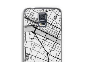 Zet een stadskaart op je  Galaxy S5 hoesje
