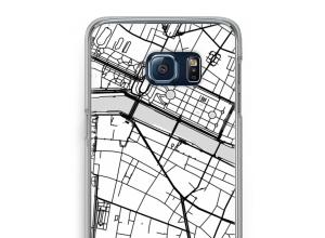 Zet een stadskaart op je  Galaxy S6 Edge Plus hoesje
