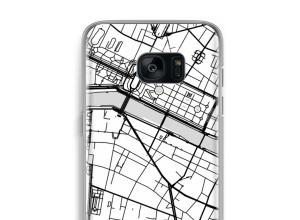 Zet een stadskaart op je  Galaxy S7 Edge hoesje