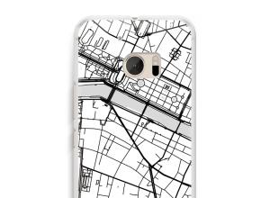 Zet een stadskaart op je  HTC 10 hoesje