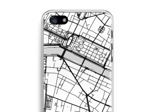 Zet een stadskaart op je  iPhone 5 / 5S / SE (2016) hoesje