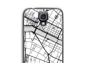 Zet een stadskaart op je  Galaxy S4 hoesje