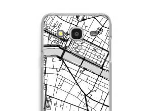 Zet een stadskaart op je  Galaxy J7 (2015) hoesje