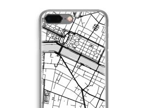 Zet een stadskaart op je  iPhone 8 Plus hoesje
