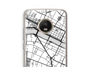 Zet een stadskaart op je  Moto G5 Plus hoesje