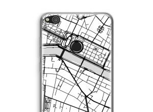 Zet een stadskaart op je  Ascend P8 Lite (2017) hoesje