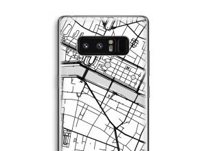 Zet een stadskaart op je  Galaxy Note 8 hoesje
