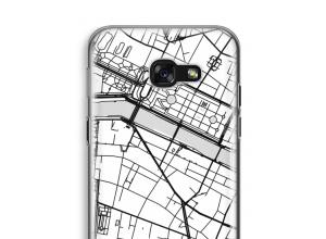Zet een stadskaart op je  Galaxy A5 (2017) hoesje