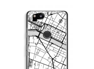 Zet een stadskaart op je  Pixel 2 hoesje