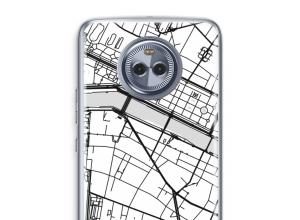 Zet een stadskaart op je  Moto X4 hoesje