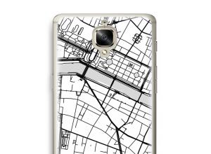 Zet een stadskaart op je  OnePlus 3 hoesje