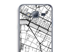 Zet een stadskaart op je  Galaxy J3 (2016) hoesje