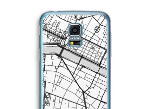 Zet een stadskaart op je  Galaxy S5 mini hoesje