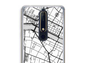 Zet een stadskaart op je  Nokia 6 (2018) hoesje