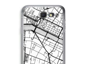 Zet een stadskaart op je  Galaxy J7 Prime (2017) hoesje