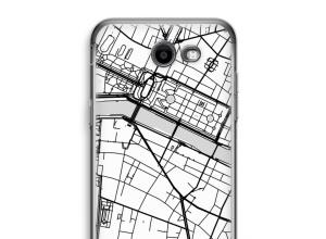 Zet een stadskaart op je  Galaxy J3 Prime (2017) hoesje
