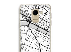 Zet een stadskaart op je  Galaxy J6 (2018) hoesje