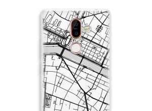 Zet een stadskaart op je  Nokia 7 Plus hoesje
