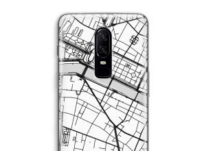 Zet een stadskaart op je  OnePlus 6 hoesje