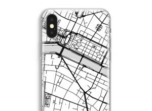 Zet een stadskaart op je  iPhone XS Max hoesje