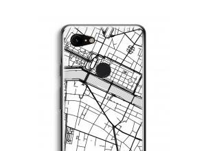 Zet een stadskaart op je  Pixel 3 hoesje