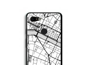 Zet een stadskaart op je  Pixel 3 XL hoesje