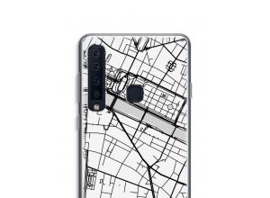 Zet een stadskaart op je  Galaxy A9 (2018) hoesje
