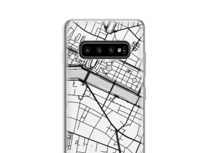 Zet een stadskaart op je  Galaxy S10 Plus hoesje