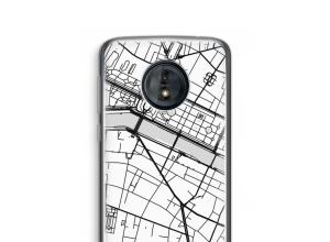 Zet een stadskaart op je  Moto G6 Play hoesje