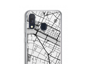 Zet een stadskaart op je  Galaxy A40 hoesje