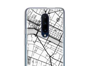 Zet een stadskaart op je  OnePlus 7 Pro hoesje