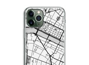 Zet een stadskaart op je  iPhone 11 Pro hoesje