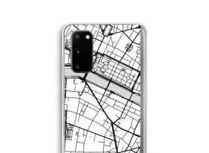 Zet een stadskaart op je  Galaxy S20 hoesje