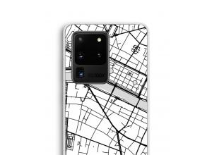Zet een stadskaart op je  Galaxy S20 Ultra hoesje