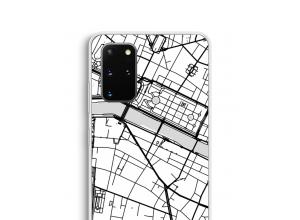Zet een stadskaart op je  Galaxy S20 Plus hoesje