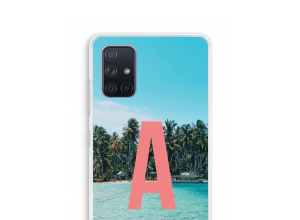 Maak zelf je Galaxy A71 hoesje met je monogram