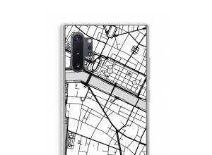 Zet een stadskaart op je  Galaxy Note 10 Plus hoesje