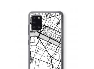 Zet een stadskaart op je  Galaxy A31 hoesje