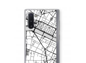 Zet een stadskaart op je  Galaxy Note 10 hoesje
