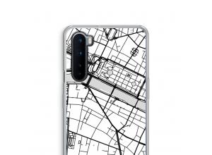 Zet een stadskaart op je  OnePlus Nord hoesje