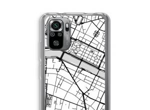 Zet een stadskaart op je  Xiaomi Redmi Note 10S hoesje